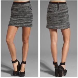 Rebecca Taylor Bouclé Tweed Wool Blend Mini Skirt